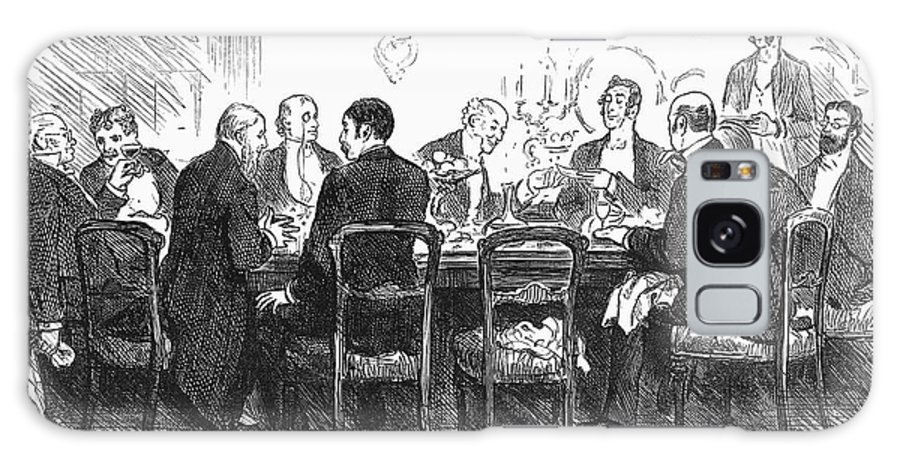 1880 Galaxy S8 Case featuring the photograph Dinner Party, 1880 by Granger