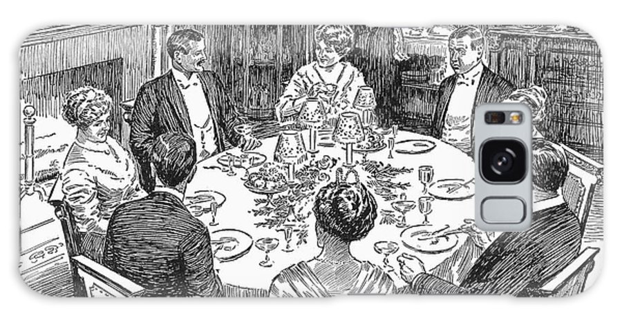 1915 Galaxy S8 Case featuring the photograph Dinner Party, 1915 by Granger