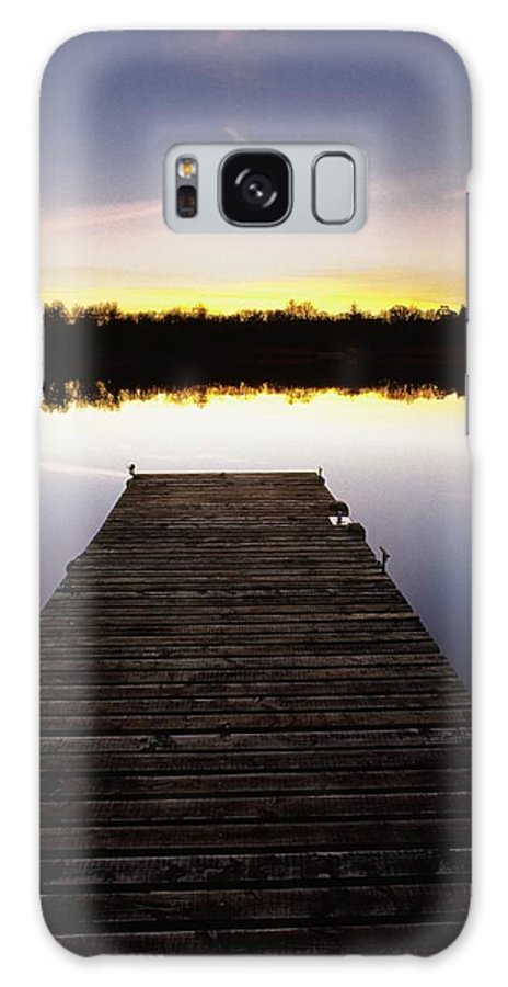 Sunset Galaxy S8 Case featuring the photograph Dock At Sunset by Gareth McCormack