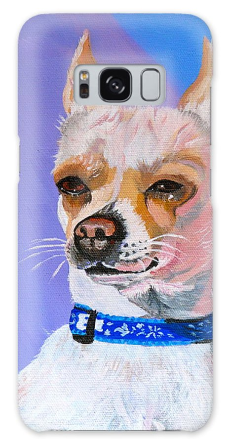 Dog Galaxy S8 Case featuring the painting Doggie Know It All by Phyllis Kaltenbach