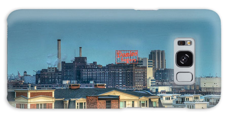 Tonemapped Galaxy S8 Case featuring the photograph Domino Sugars Sign Day by Mark Dodd
