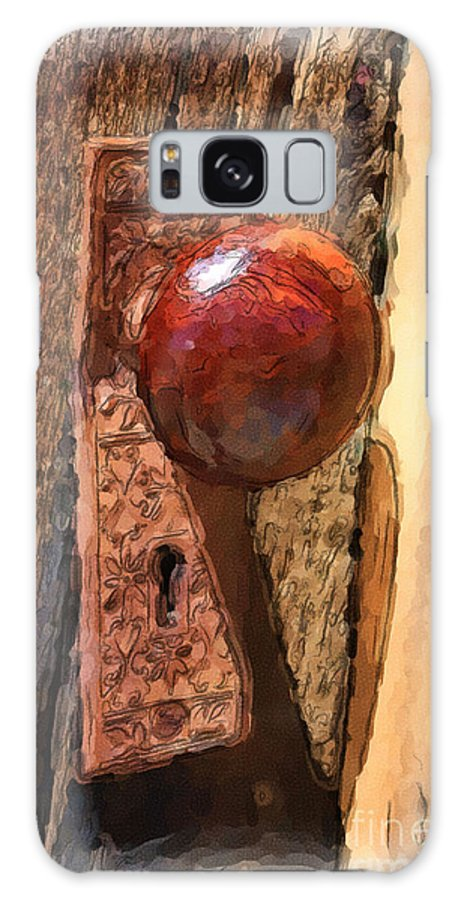 Ghost Town Galaxy S8 Case featuring the painting Doorway To The Past by Brenda Deem