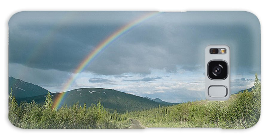 North America Galaxy S8 Case featuring the photograph Double Rainbow Over The Denali Highway by Rich Reid