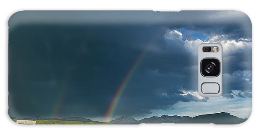Americas Galaxy S8 Case featuring the photograph Double Rainbow by Roderick Bley