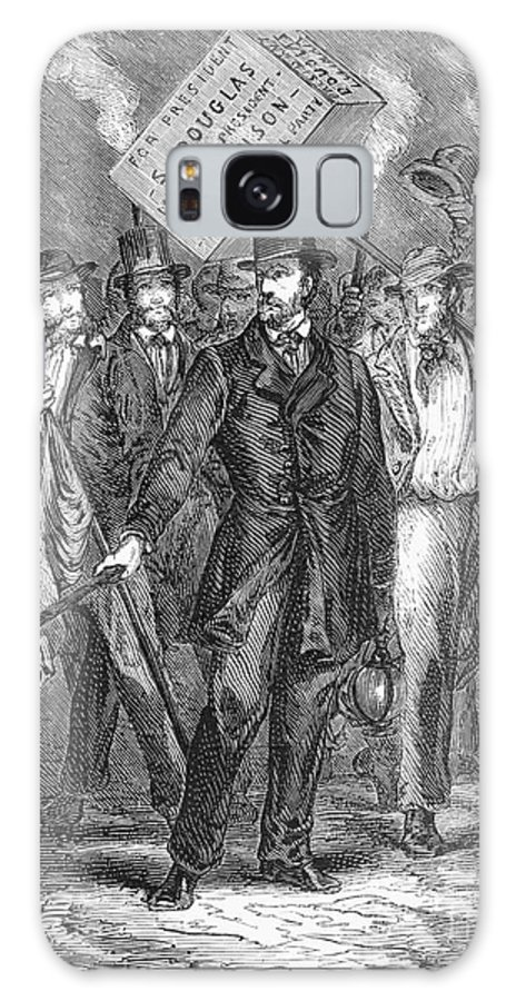 1860 Galaxy S8 Case featuring the photograph Douglas: Election Of 1860 by Granger