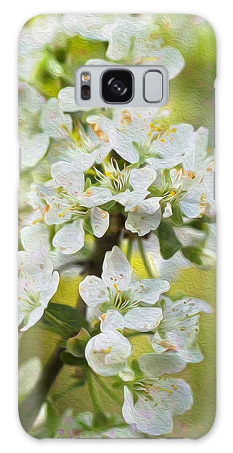 Clare Bambers Galaxy S8 Case featuring the photograph Dreamy Blossom. by Clare Bambers