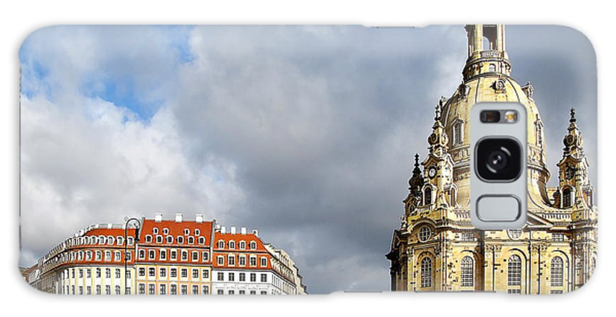 Temples Galaxy S8 Case featuring the photograph Dresden Church Of Our Lady And New Market by Christine Till