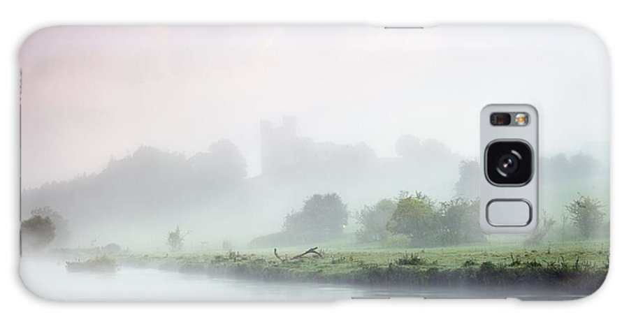 County Meath Galaxy S8 Case featuring the photograph Dunmoe Castle Seen Through The Mist On by Peter McCabe