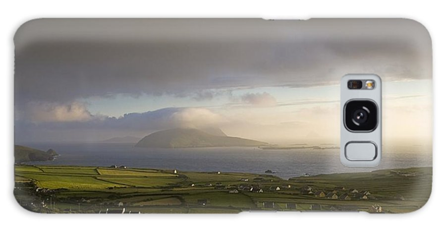 Blasket Islands Galaxy S8 Case featuring the photograph Dunquin, County Kerry, Ireland Vista Of by Peter McCabe