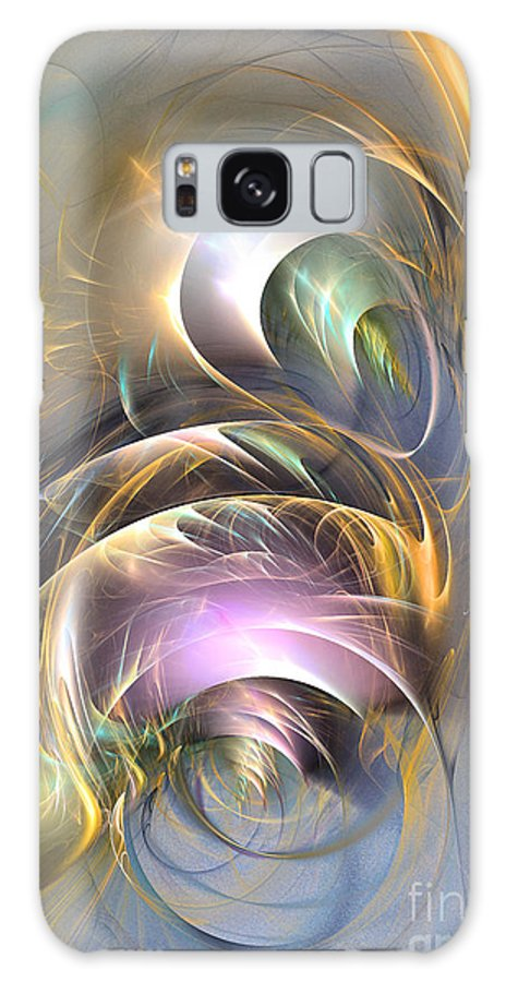 3-d Galaxy S8 Case featuring the digital art Dynamic Duo by Sipo Liimatainen