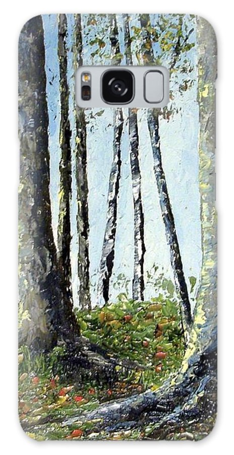 Trees Galaxy Case featuring the painting Early fall by Tami Booher