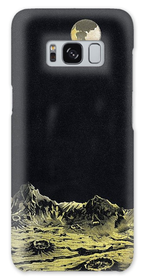 Moon Galaxy S8 Case featuring the photograph Earth From Moon by Science, Industry & Business Librarynew York Public Library