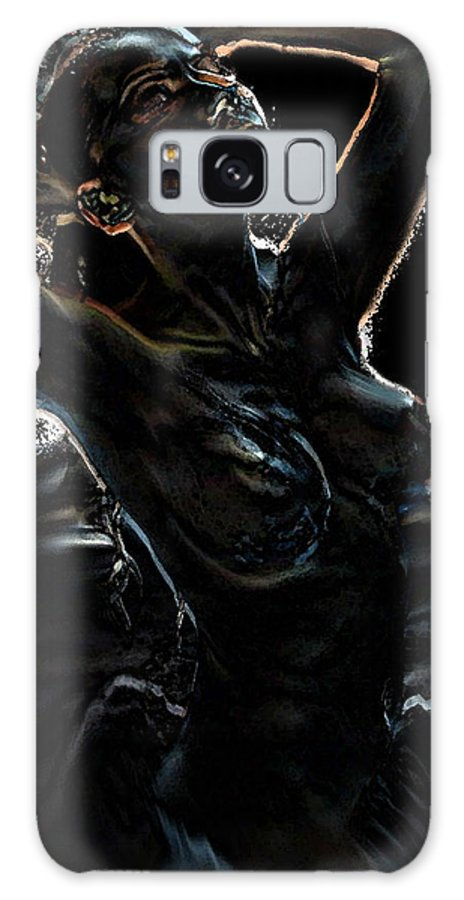 Nude Galaxy S8 Case featuring the painting Earth Rising by Thomas Oliver