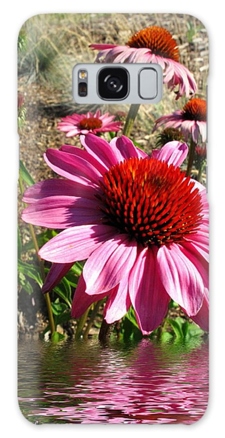 Echinacea Galaxy S8 Case featuring the photograph Echinacea In Water by Joyce Dickens