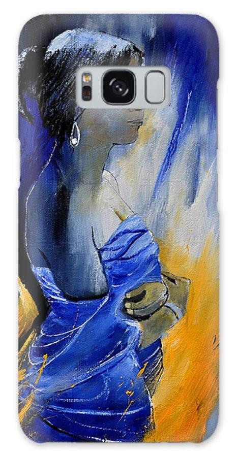 Model Galaxy S8 Case featuring the painting Eglantine 562130 by Pol Ledent
