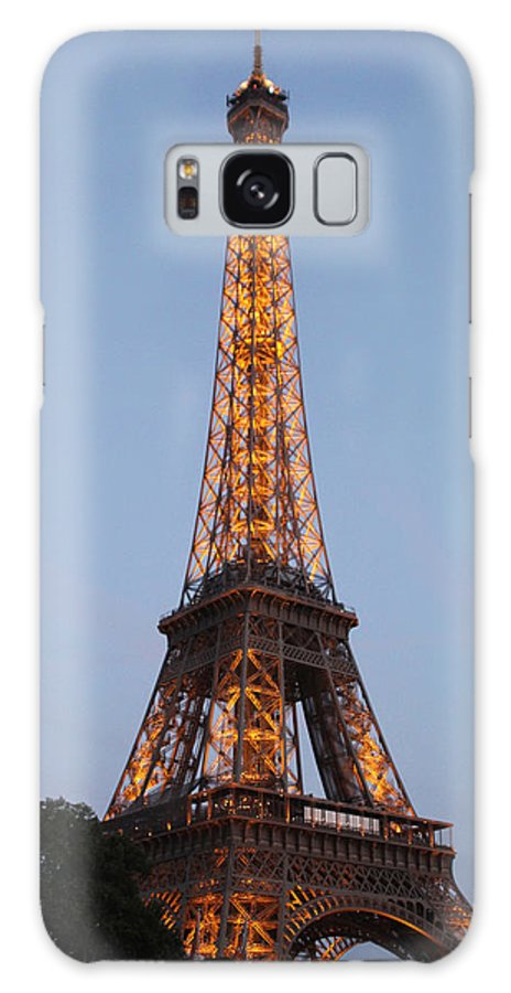 France Galaxy S8 Case featuring the photograph Eiffel Tower Lights by Debra   Vatalaro