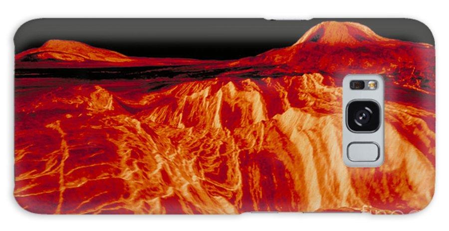 Astronomy Galaxy S8 Case featuring the photograph Eistla Regio Of Venus by Nasa