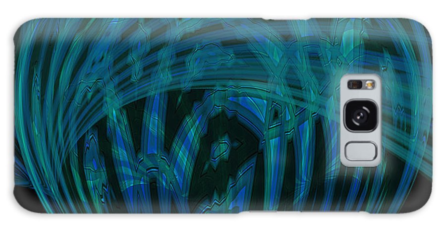Abstract Galaxy S8 Case featuring the photograph Electric Blue Heart by Anne Kitzman