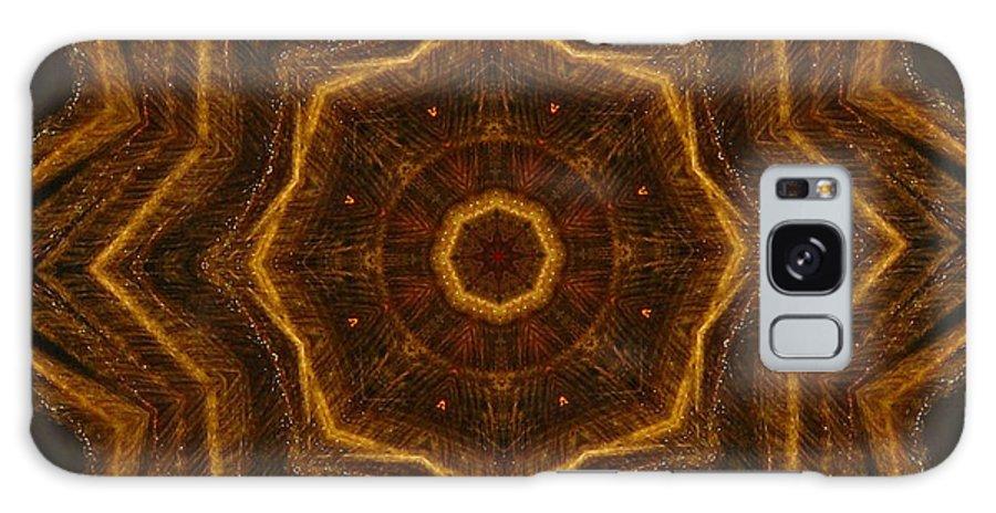 Mandala Galaxy S8 Case featuring the digital art Electric Mandala 6 by Rhonda Barrett
