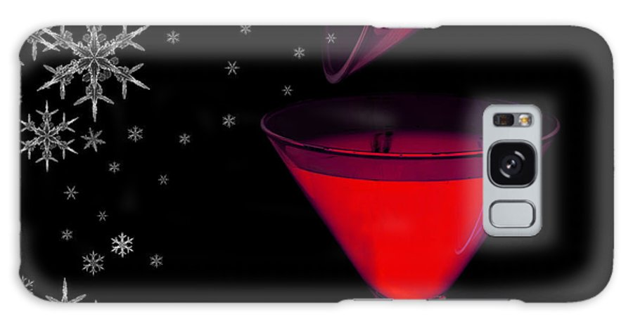 Christmas Galaxy S8 Case featuring the photograph Electric Red Cocktail With Snowflakes by Anne Kitzman