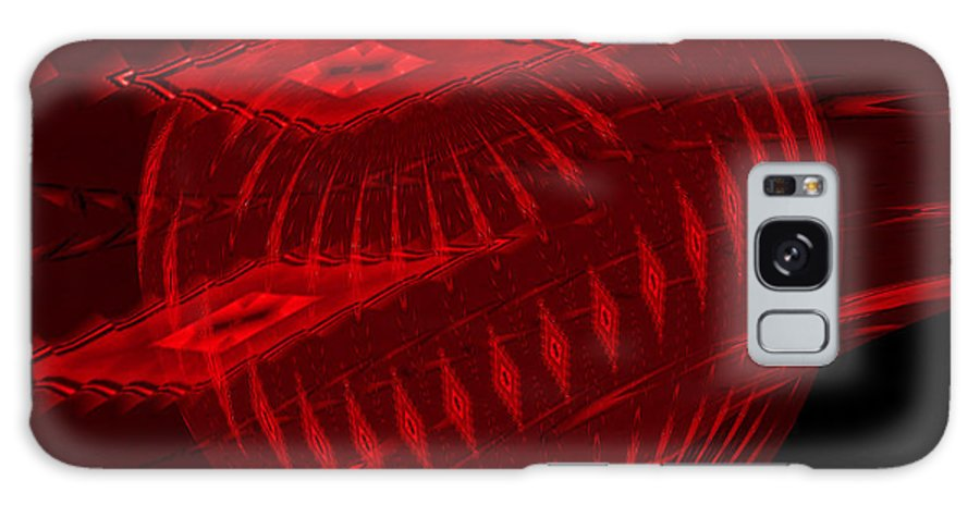 Abstract Galaxy S8 Case featuring the photograph Electric Red Heart 3 by Anne Kitzman
