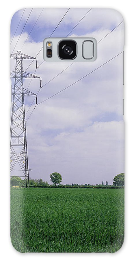 Electricity Pylon Galaxy S8 Case featuring the photograph Electricity Pylons by Carlos Dominguez