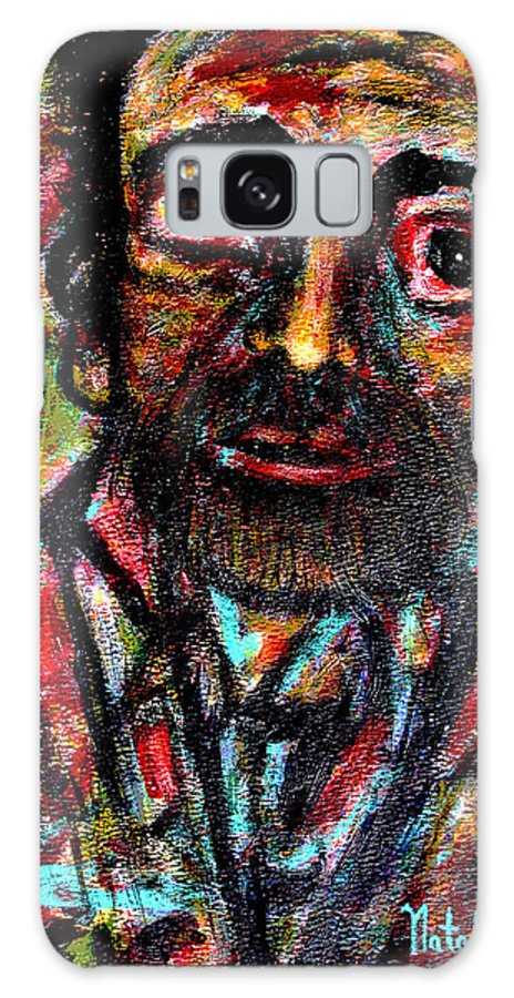 Man Galaxy S8 Case featuring the painting Eligible Bachelor by Natalie Holland