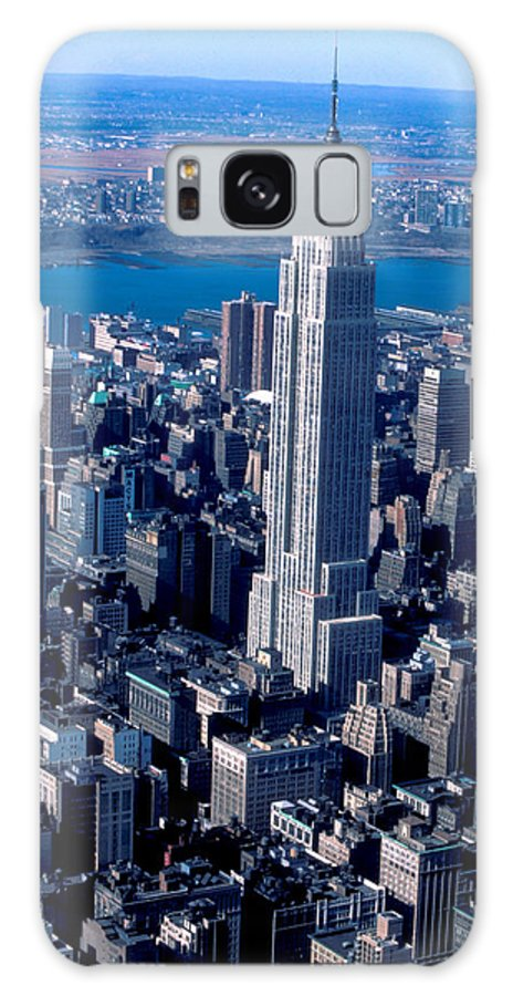 Manhattan Galaxy S8 Case featuring the photograph Empire State Building Nyc by Carl Purcell