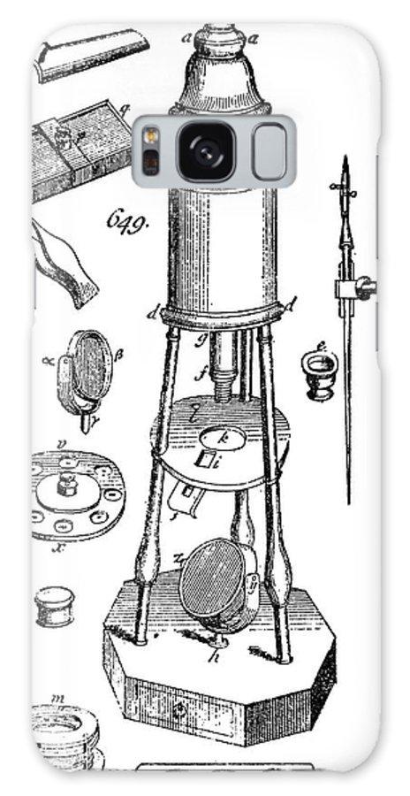 Culpeper Microscope Galaxy S8 Case featuring the photograph Engraving Of A Culpeper Microscope (1730) by