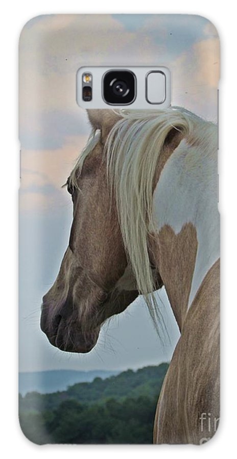 Horse Galaxy S8 Case featuring the photograph Equine Study - Paint Horse by Laurinda Bowling