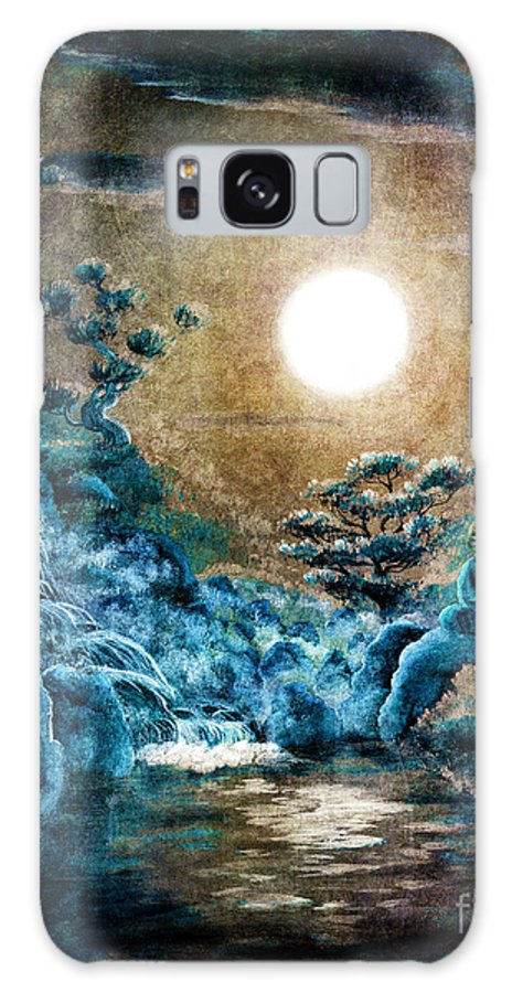 Zen Galaxy S8 Case featuring the digital art Eternal Buddha Meditation by Laura Iverson