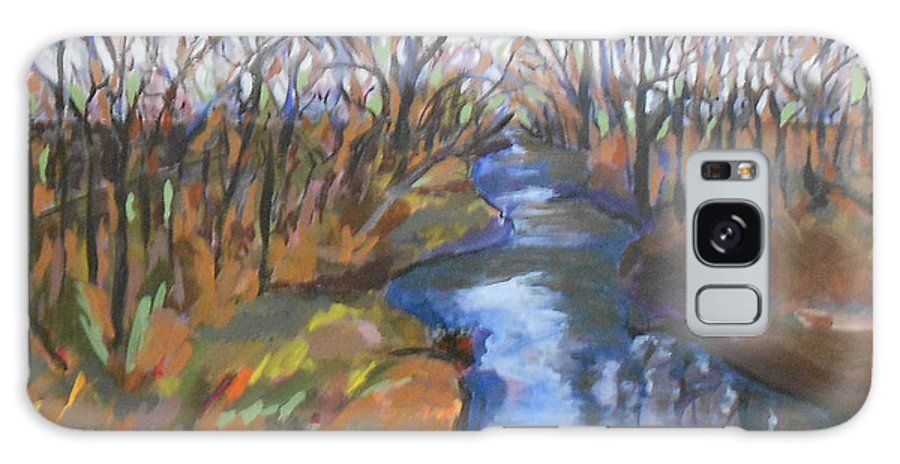Paintings Galaxy S8 Case featuring the painting Fall Creek by Daniel Gale