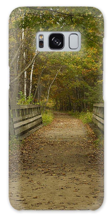 Trail Galaxy S8 Case featuring the photograph Fall Trail Scene 24 by John Brueske