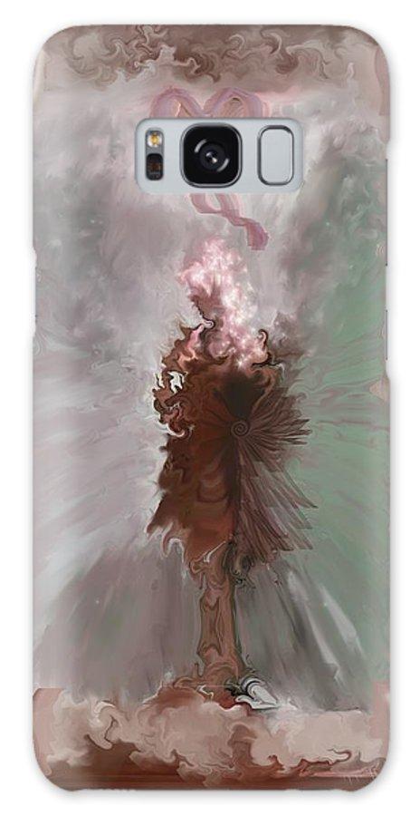 Fantasy Art Galaxy S8 Case featuring the digital art Fantasy Girl by Linda Sannuti