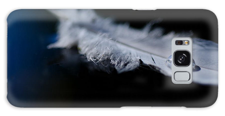 Feather Galaxy S8 Case featuring the photograph Feather With A Water Drop by Mats Silvan