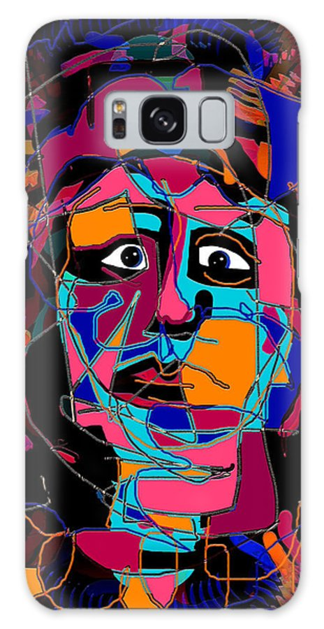 Colorful Expression Galaxy S8 Case featuring the mixed media Feeling Blue by Natalie Holland
