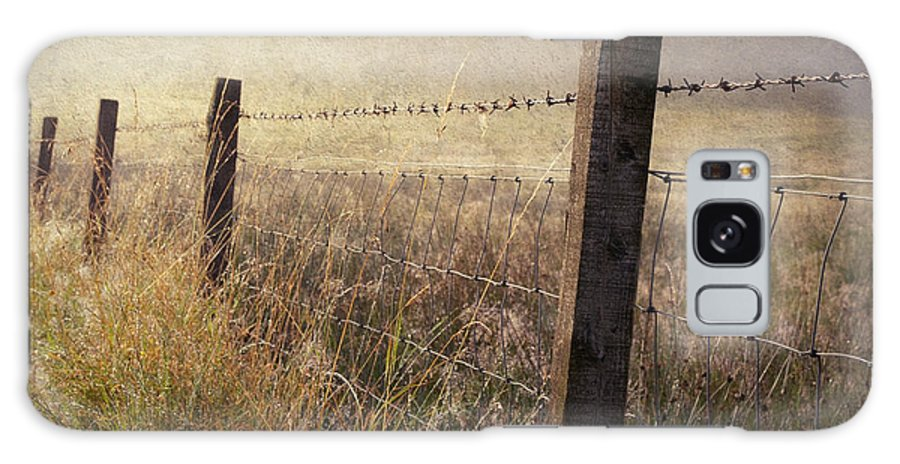 Scotland Galaxy S8 Case featuring the photograph Fence And Field. Trossachs National Park. Scotland by Jenny Rainbow