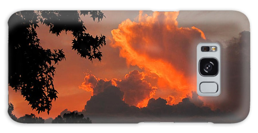 Sunset Galaxy S8 Case featuring the photograph Fiery Sunset by Peg Urban
