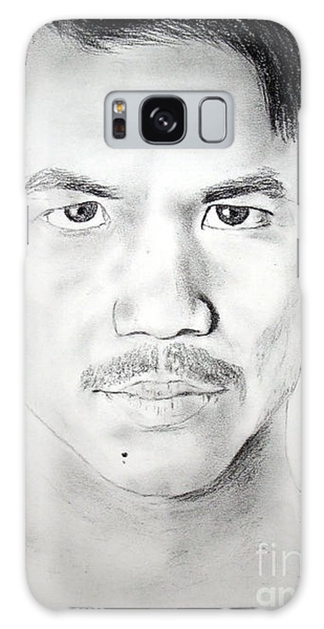Filipino Galaxy S8 Case featuring the drawing Filipino Superstar And World Champion Boxer Manny Pacquiao by Jim Fitzpatrick