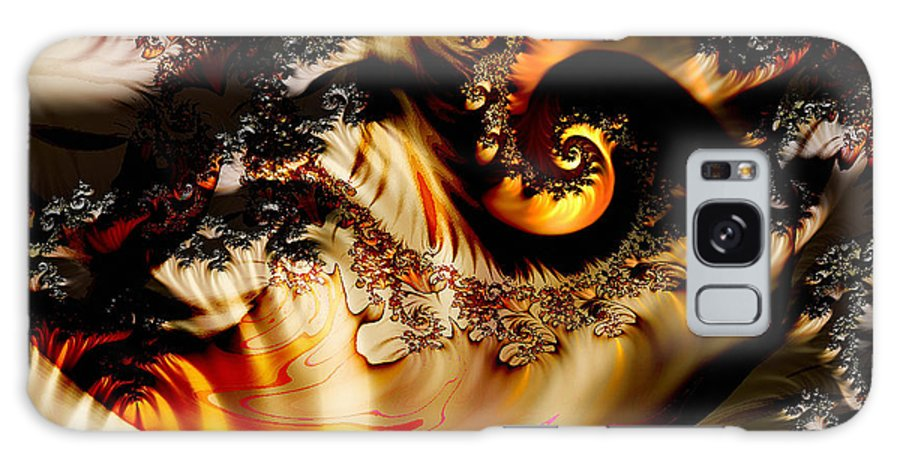 Fractal Galaxy S8 Case featuring the digital art Fire Dragon by Nafets Nuarb