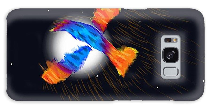 Galaxy S8 Case featuring the digital art Firebird by Mathieu Lalonde