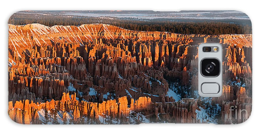Bronstein Galaxy S8 Case featuring the photograph First Light At Bryce Canyon by Sandra Bronstein