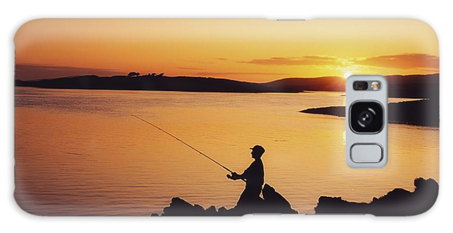 Beauty In Nature Galaxy S8 Case featuring the photograph Fishing At Sunset, Roaring Water Bay by The Irish Image Collection