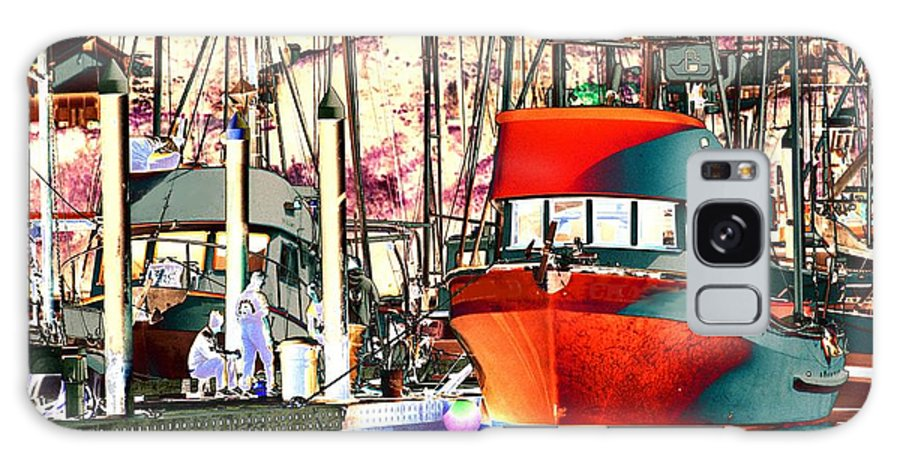 Water Galaxy S8 Case featuring the photograph Fishing Boat In Harbor by One Rude Dawg Orcutt
