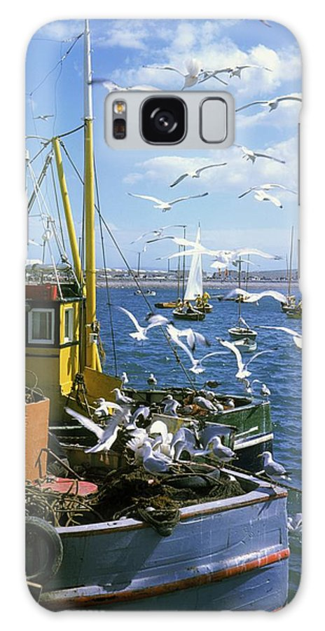 Bay Galaxy S8 Case featuring the photograph Fishing Boat by The Irish Image Collection