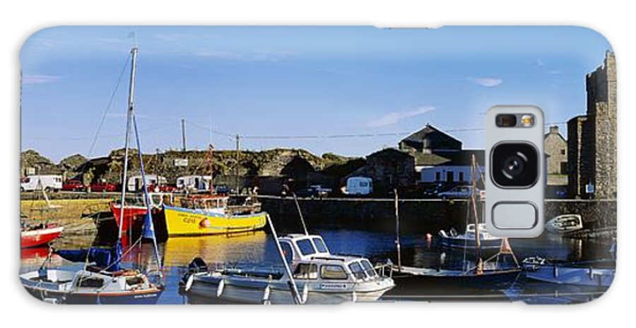 Building Exterior Galaxy S8 Case featuring the photograph Fishing Boats At A Harbor, Slade by The Irish Image Collection
