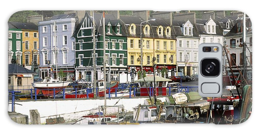 Boat Galaxy S8 Case featuring the photograph Fishing Boats Moored At A Harbor, Cobh by The Irish Image Collection