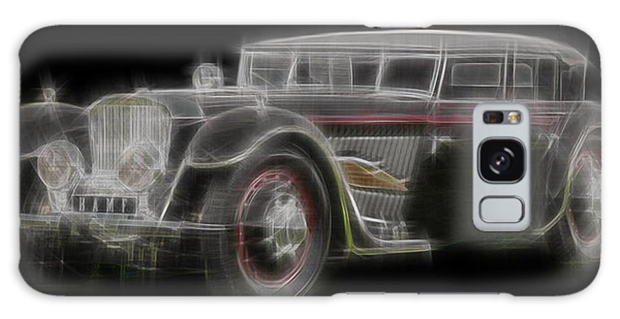 Vintage Cars Galaxy S8 Case featuring the digital art Fleche D'or by Kenneth Armand Johnson