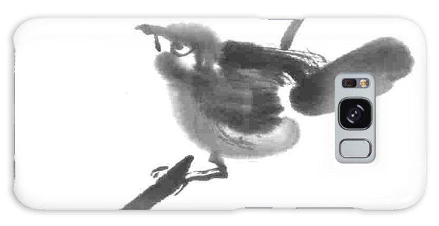 Bird Galaxy S8 Case featuring the painting Fledgling by Ellen Miffitt