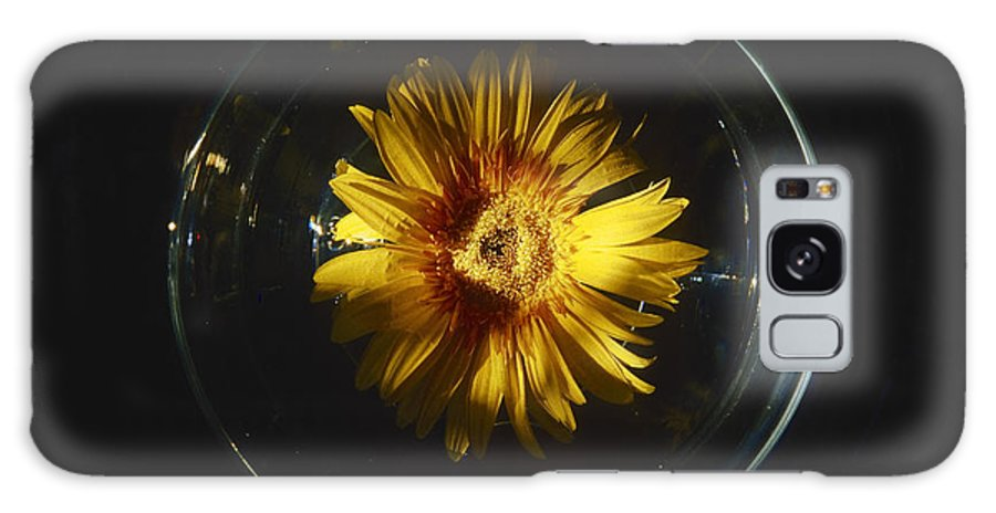Yellow Galaxy S8 Case featuring the photograph Floatting Flower by Patrick Kessler